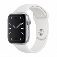 Apple Watch S5 44mm Silver Aluminum / White Sport Band